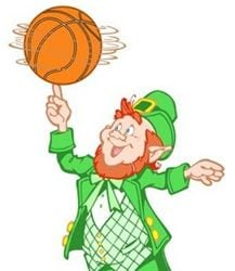 Leprechaun Dribbling Basketball