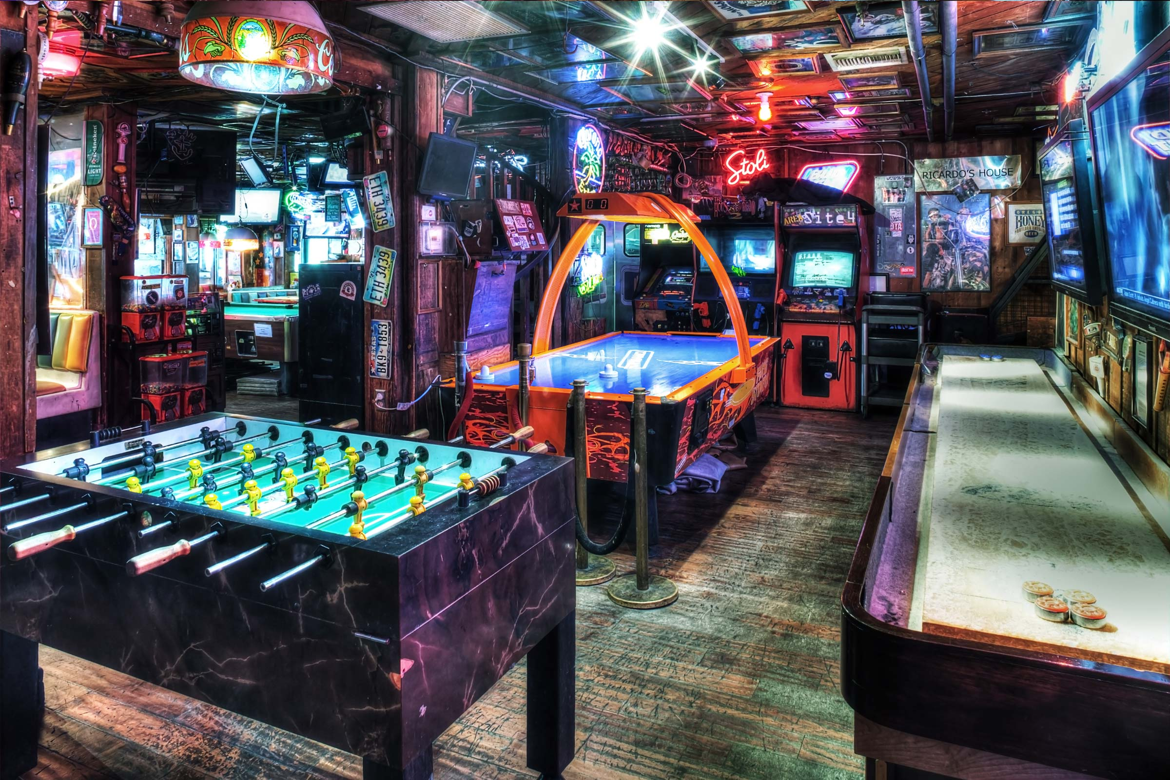 West Hollywood air hockey, shuffleboard and foosball