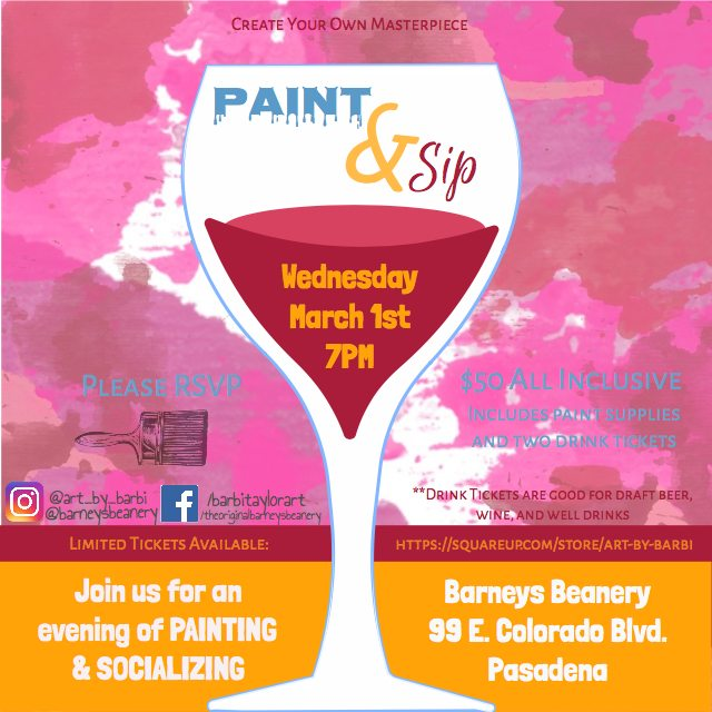 Paint night flyer