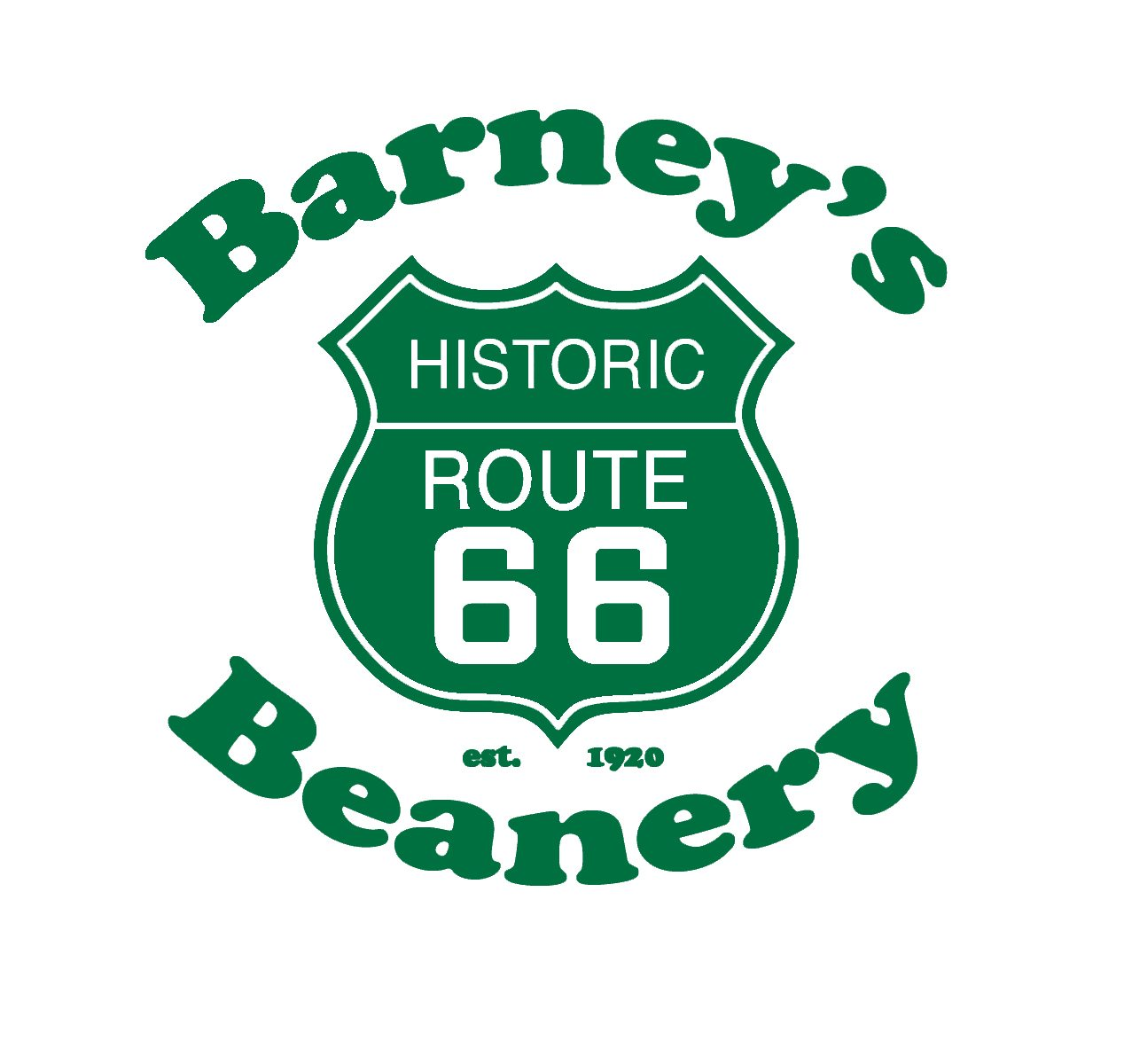 Barney's Logo in Green